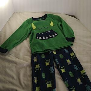 Carter's Fleece Sleeping Monster Pajamas set